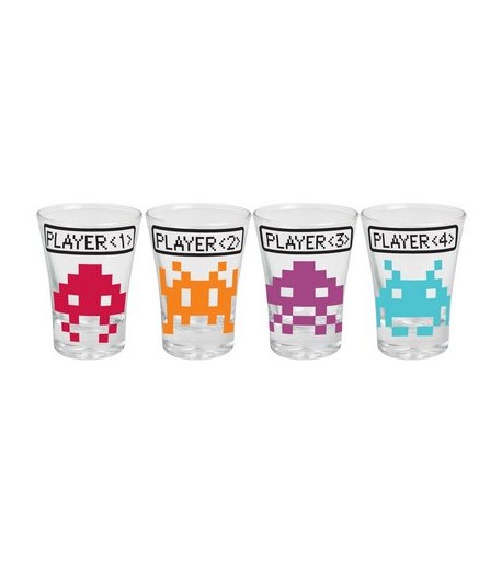 Copos de Tequila Shot Space Invaders