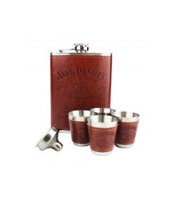 Kit Cantil de Whisky 270 ML e 4 Copos Shot Jack